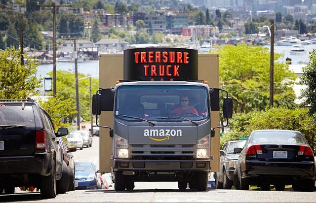 亞馬遜 O2O 新模式:開著卡車讓你當面網購